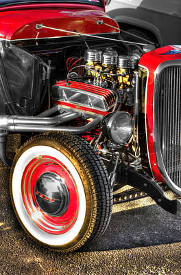 Antique Photograph - Ford Coupe Hot Rod  V3 by John Straton