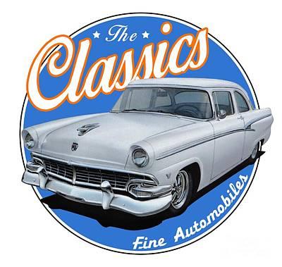 Ford Customline In White Art Print