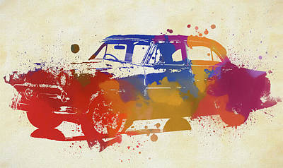 Painting - Ford Customline Watercolor by Dan Sproul