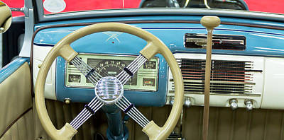 Barrett Jackson Wall Art - Photograph - Ford Dash by Wayne Vedvig