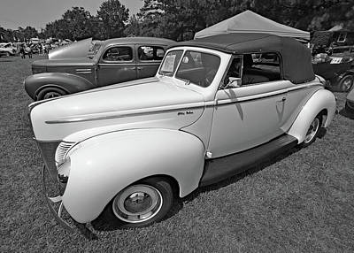 Photograph - Ford Deluxe 11 B W 1 by Joseph C Hinson Photography