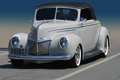 Photograph - Ford Deluxe Convertible by Bill Dutting