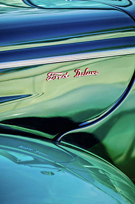 Photograph - Ford Deluxe Emblem by Jill Reger