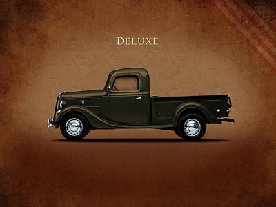 Truck Photograph - Ford Deluxe Pickup 1937 by Mark Rogan