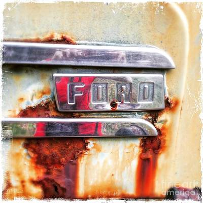 Photograph - Ford Details by Terry Rowe