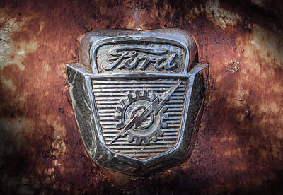Photograph - Ford Emblem by Shirley Radabaugh