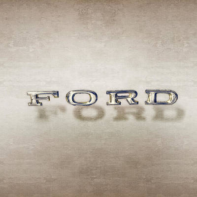 Photograph - Ford Emblem by YoPedro