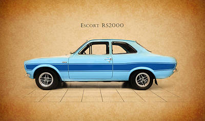 Escort Photograph - Ford Escort Rs2000 by Mark Rogan
