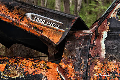 Photograph - Ford F-100 5564 by Dan Beauvais