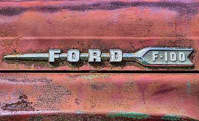 Photograph - Ford F-100 by JC Findley