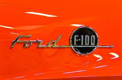 Barrett Jackson Wall Art - Photograph - Ford F-100 by Wayne Vedvig