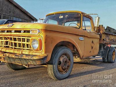 Automotive Art Series Wall Art - Photograph - Ford F-150 Dump Truck by Tony Baca