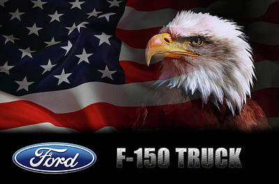 Truck Digital Art - Ford F-150 Truck Patriot by Daniel Hagerman