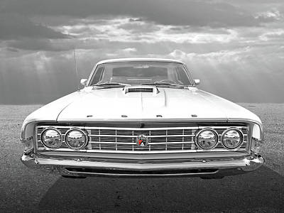 Photograph - Ford Fairlane 1969 Head On by Gill Billington