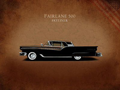 Ford Fairlane 500 1957 Art Print
