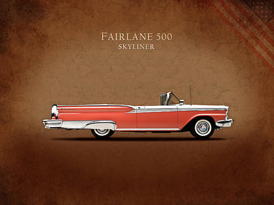 American Cars Photograph - Ford Fairlane 500 1959 by Mark Rogan