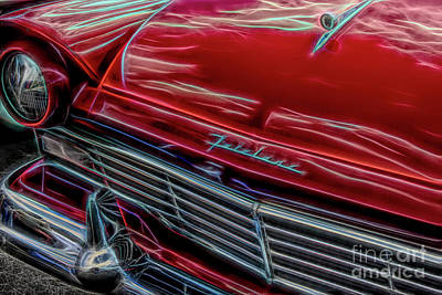 Digital Art - Ford Fairlane by John Freidenberg
