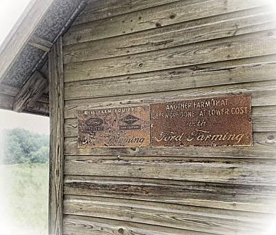 Photograph - Ford Farming Signs by Joe Duket