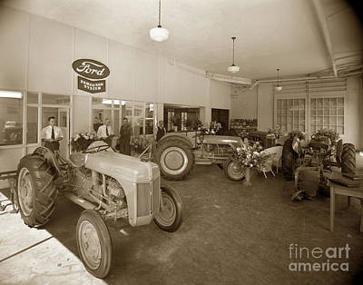 Photograph - Ford Ferguson System Ford Tractor Circa 1940 by California Views Mr Pat Hathaway Archives