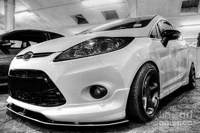 Ford Fiesta In Hdr Art Print by Vicki Spindler