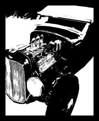 Digital Art - Ford Flathead Roadster Tee by David King