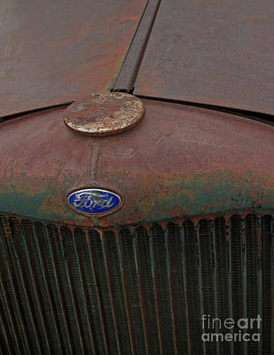 Photograph - Ford Grille-signed-#8905 by J L Woody Wooden