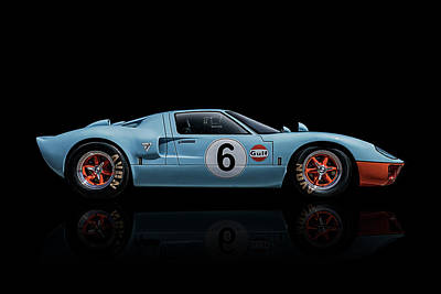 Reflection Digital Art - Ford Gt 40 by Douglas Pittman