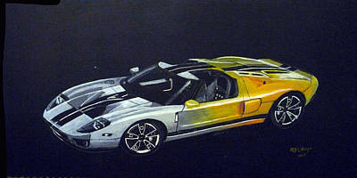 Painting - Ford Gt Concept by Richard Le Page