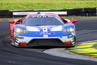 Photograph - Ford Gt On Track Vir by Alan Raasch