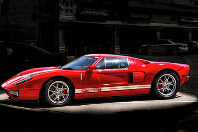 Photograph - Ford Gt - Red by Gene Parks