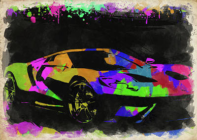 Photograph - Ford Gt Watercolor by Ricky Barnard