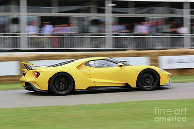 Photograph - Ford Gt Yellow by Roger Lighterness