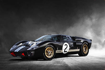 Digital Art - Ford Gt40 1966 by Peter Chilelli