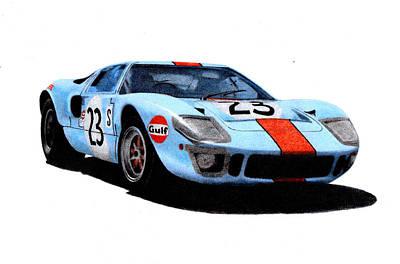 Ford Gt40 Hobbs/hailwood 1969 Art Print by Ugo Capeto