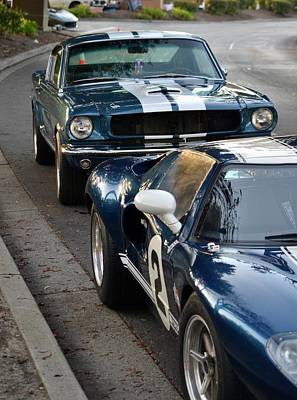 Photograph - Ford Gt40  Mustang by Dean Ferreira