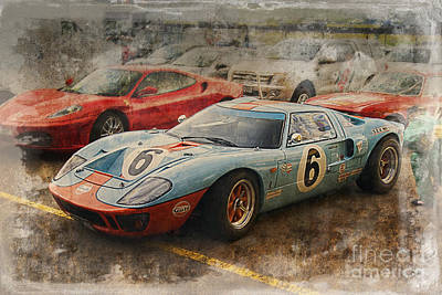 Photograph - Ford Gt40 Sepia by Stuart Row
