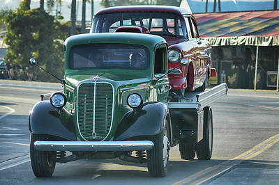 Photograph - Ford Hauls Chevy by Bill Dutting