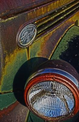 Photograph - Ford Headlight by Amanda Smith