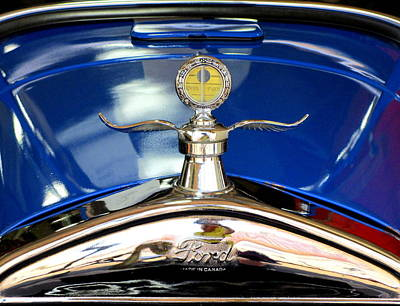 Photograph - Ford Hood Ornament by Randall Weidner