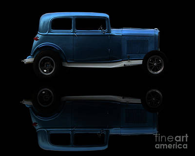 Photograph - Ford Hot Rod Reflection by Baggieoldboy