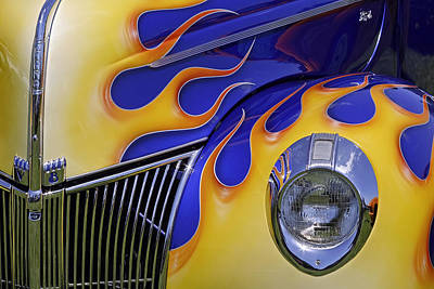 Photograph - Ford In Flames by Wes and Dotty Weber