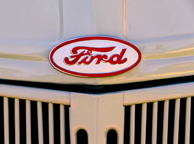 Photograph - Ford In Red by John Brink