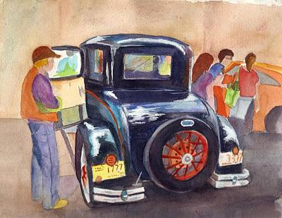 1930 Ford Art Print by Judy Hopkins