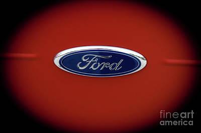Photograph - Ford Logo by Deborah Klubertanz
