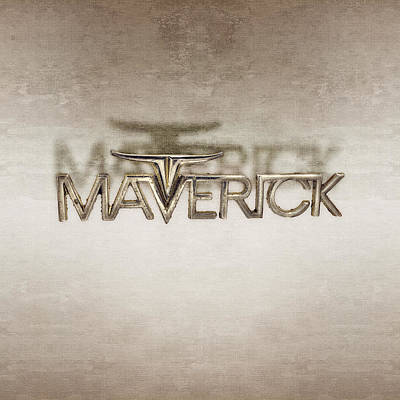 Photograph - Ford Maverick Badge by YoPedro