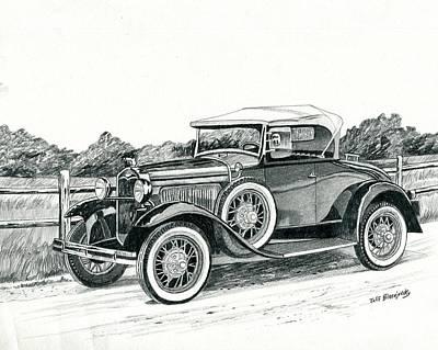 Ford Model A 1930 Art Print by Jeff Blazejovsky