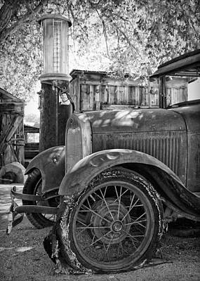 Ford Model A At The Gas Pump Art Print by Troy Montemayor