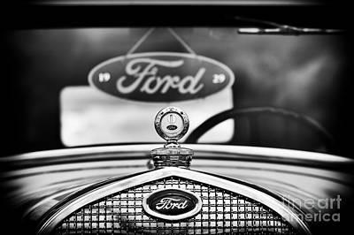 Ford Model A Monochrome Art Print