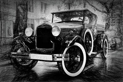 Dream Cars Photograph - Ford Model A Pickup by Frank Andree