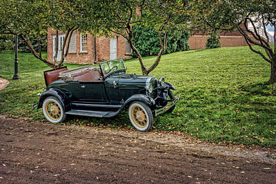 Photograph - Ford Model A Roadster by Susan Rissi Tregoning